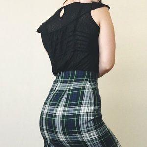 Vintage Tops - Mesh black ruffle shirt